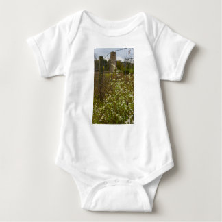 Flowers And A Silo Baby Bodysuit