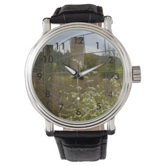 Flowers And A Silo Wrist Watches