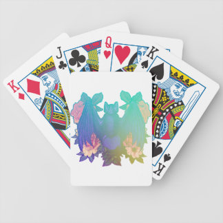 Flowers and bats bicycle playing cards