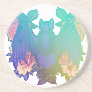 Flowers and bats coaster