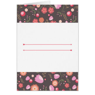 Flowers and Berries Greeting Card