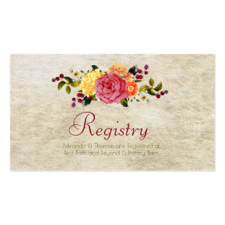 Flowers and Berries, Registration Cards Pack Of Standard Business Cards
