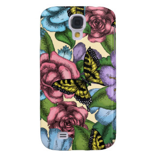 Flowers and Butterflies Galaxy S4 Cases