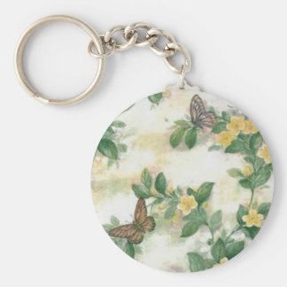 Flowers And Butterflies Key Chain