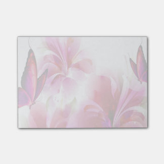 Flowers and Butterflies Post-it Notes