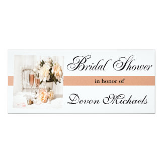 Flowers and Champagne Bridal Shower Invitations