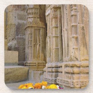 Flowers and columns, Jaisalmer Fort, Jaisalmer, Beverage Coaster