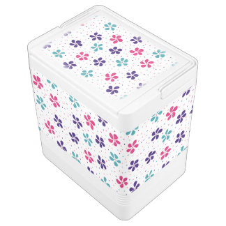 Flowers and Dots Pattern Cooler
