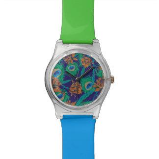 Flowers And Feathers Watch