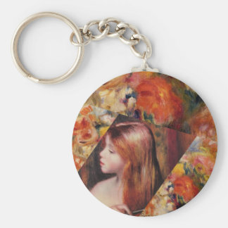 Flowers and female beauty blend just right key ring