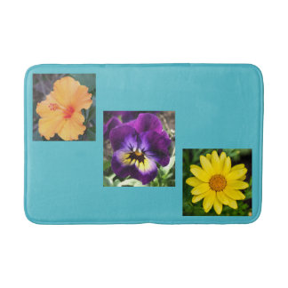 Flowers and Flowers Bath Mat