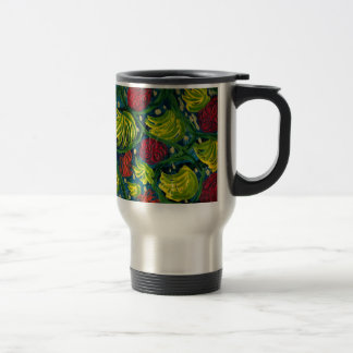 Flowers and fruit summer garden travel mug