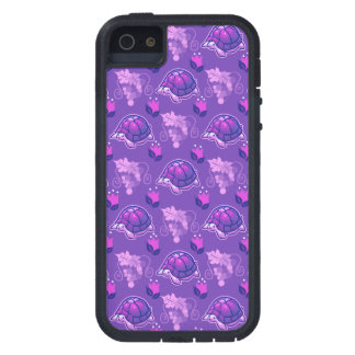 Flowers and Grapes Turtle Pattern iPhone 5 Cases