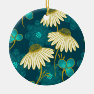 flowers and green. christmas ornament