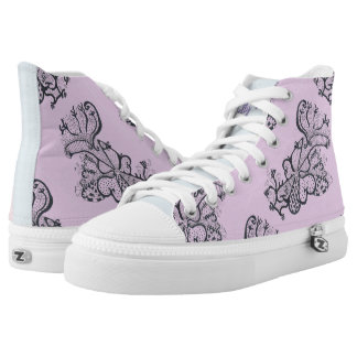 Flowers and Hearts High Tops