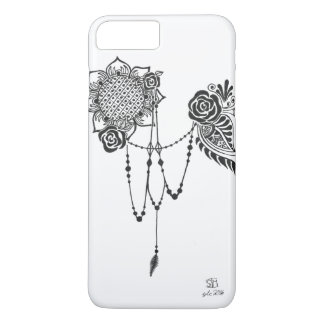 Flowers and Lace Monochrome iPhone Case