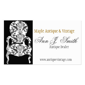 Flowers and Lace Vintage Floral Damask Furniture Business Cards