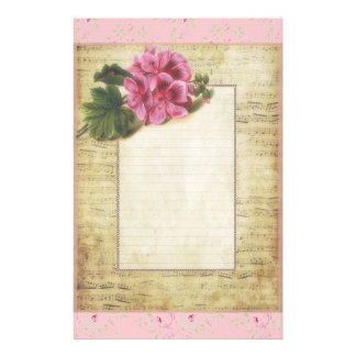 Flowers and Music Stationery