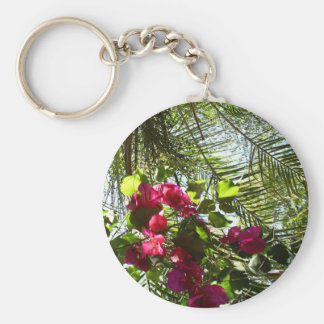 Flowers and Palm Tree Key Chains