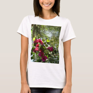 Flowers and Palm Tree T-Shirt