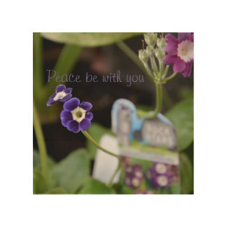 Flowers and peace wood canvases