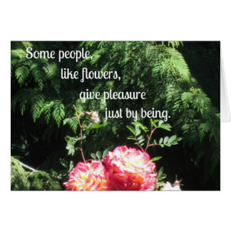 Flowers and quote about friendship card