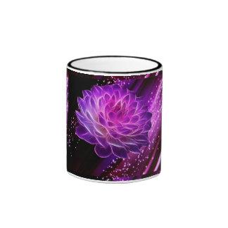flowers and stars ringer mug