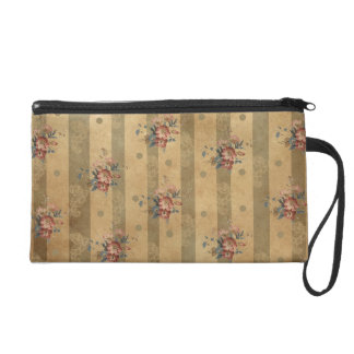 flowers and stripes wristlet clutches