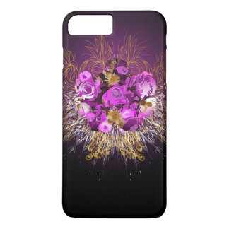 Flowers and swirls in givenchy style iPhone 7 plus case