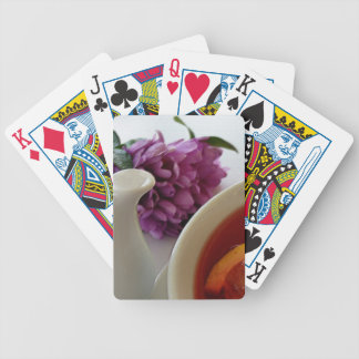 flowers and tea bicycle playing cards