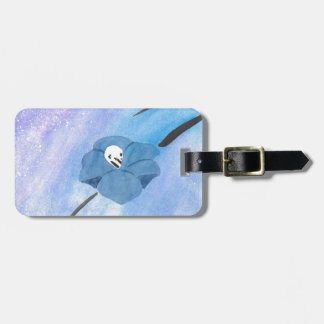 Flowers And Tiny Skull Luggage Tag