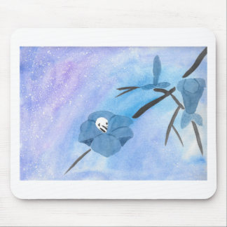 Flowers And Tiny Skull Mouse Pad