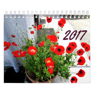 Flowers and Trees Calendar 2017