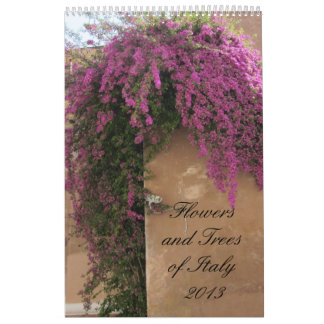 Flowers and Trees of Italy 2013 Wall Calendars