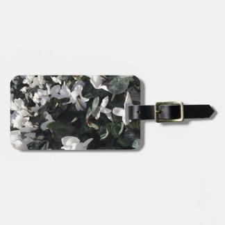Flowers and unicorns luggage tag
