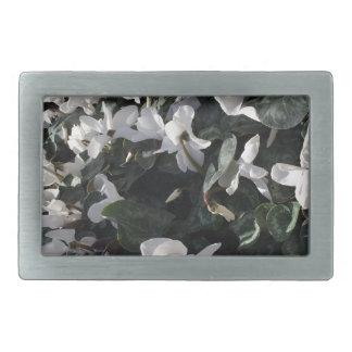 Flowers and unicorns rectangular belt buckle