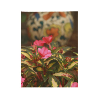 Flowers and Vase Wood Poster