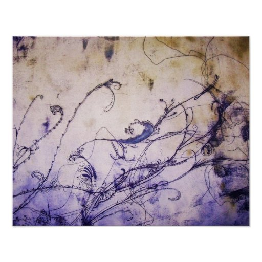 Flowers and Vines Print