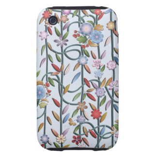 Flowers and vines tough iPhone 3 case