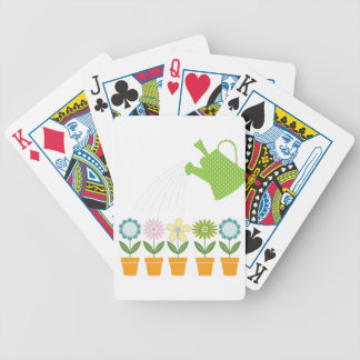 Flowers and Watering Can Gardening Fun Bicycle Playing Cards