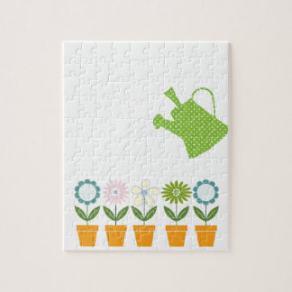 Flowers and Watering Can Gardening Fun Puzzle