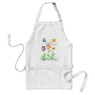 flowers apron