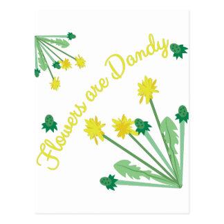 Flowers Are DAndy Postcard