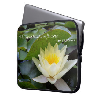 Flowers Are Happiness Custom Laptop Sleeve