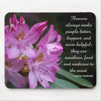 Flowers Are Happiness Personalized Mouse Pad