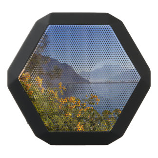 Flowers at Geneva lake, Montreux, Switzerland Black Bluetooth Speaker