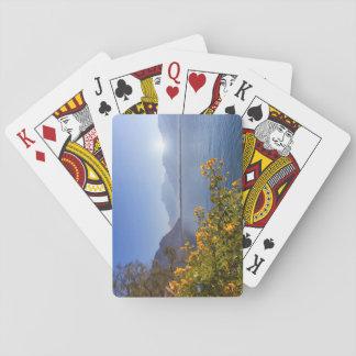 Flowers at Geneva lake, Montreux, Switzerland Playing Cards