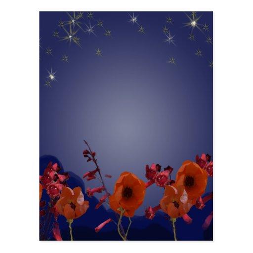 Flowers at night Postcard
