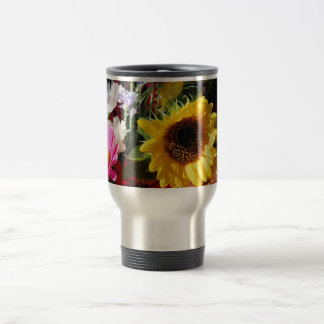 Flowers at the farmers market stainless steel travel mug