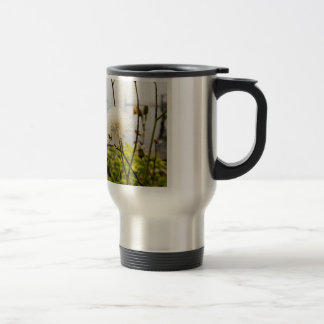 Flowers at the Ocean Travel Mug